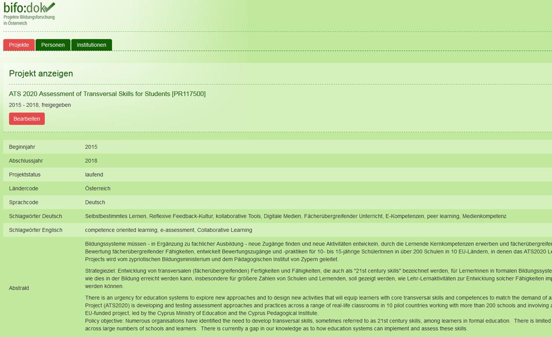 Bifo:dok ist eine Datenbank für Bildungsforschung - und ATS2020 ist jetzt auch dabei!